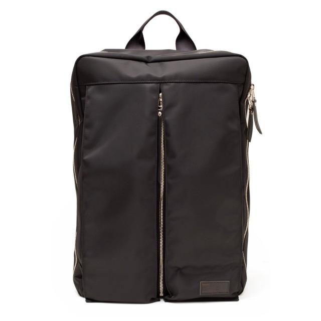 Luster Center Zip Backpack Black