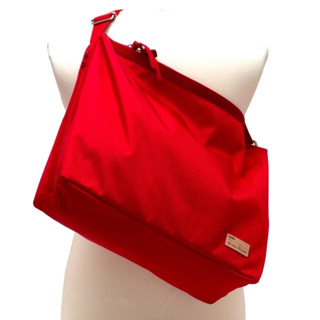 Fang Side Zip  Shoulder Red