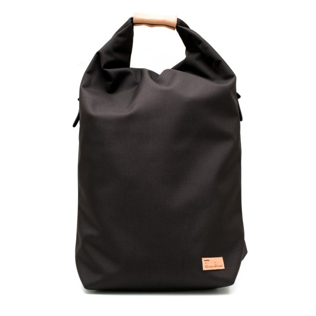 Ear fold top backpack Black