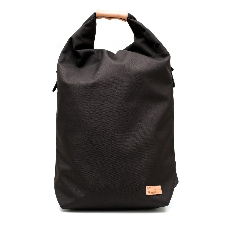 Ear fold top backpack Noir