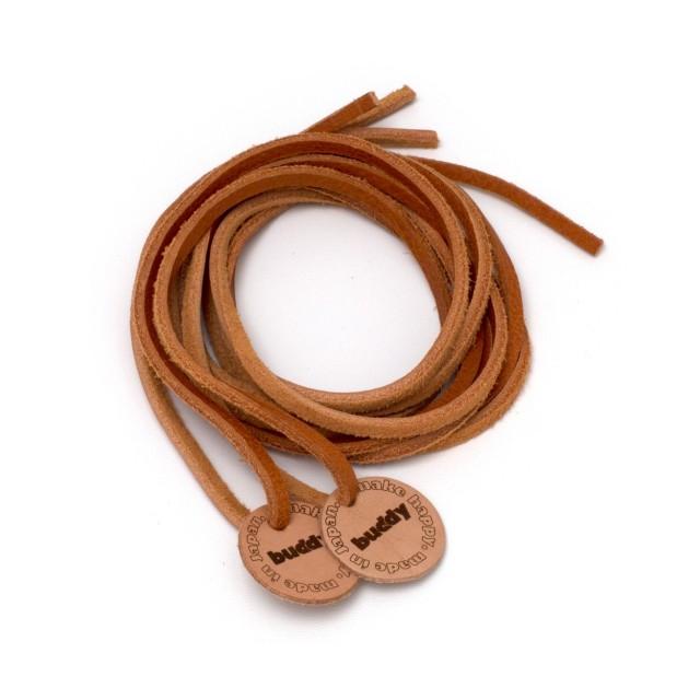 """Lacets cuire naturel avec Patch en cuir 130 cm : 51 """""""