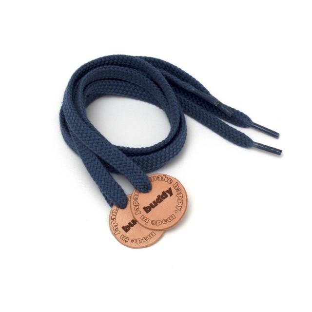 """Lacets Navy avec Patch en cuir 78 cm : 31 """""""