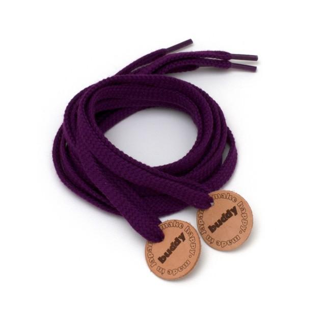 """Lacets Violet avec Patch en cuir 130 cm : 51"""""""