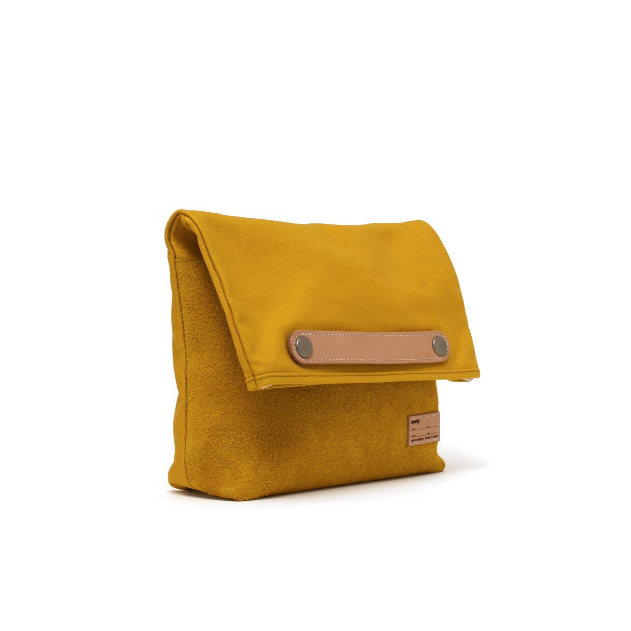 Lead Clutch Bag Moustard S | buddy make happy made in Japan